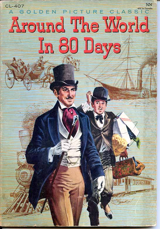 Phileas Fogg's original journey Around the World in 80 Days