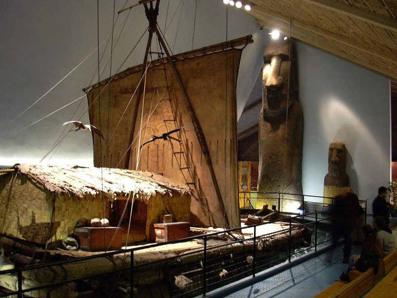Original Kon-Tiki raft