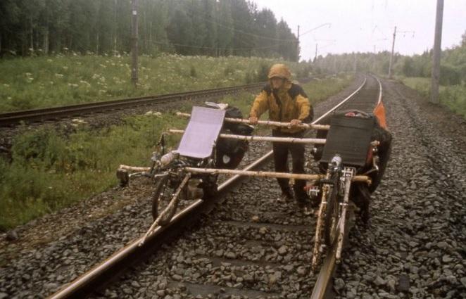 Recumbent bike train attempt