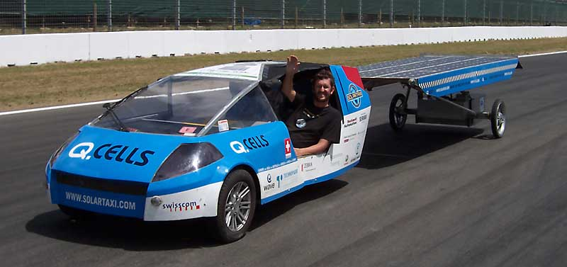 solartaxi on a test run