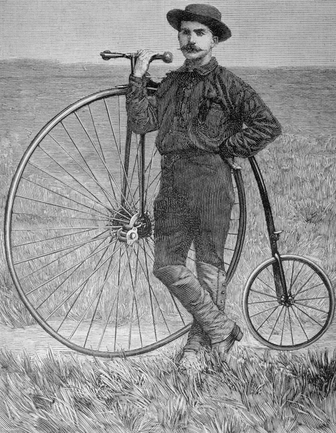 Thomas Stevens; First man to cycle Around the World on a Penny-Farthing in 1885