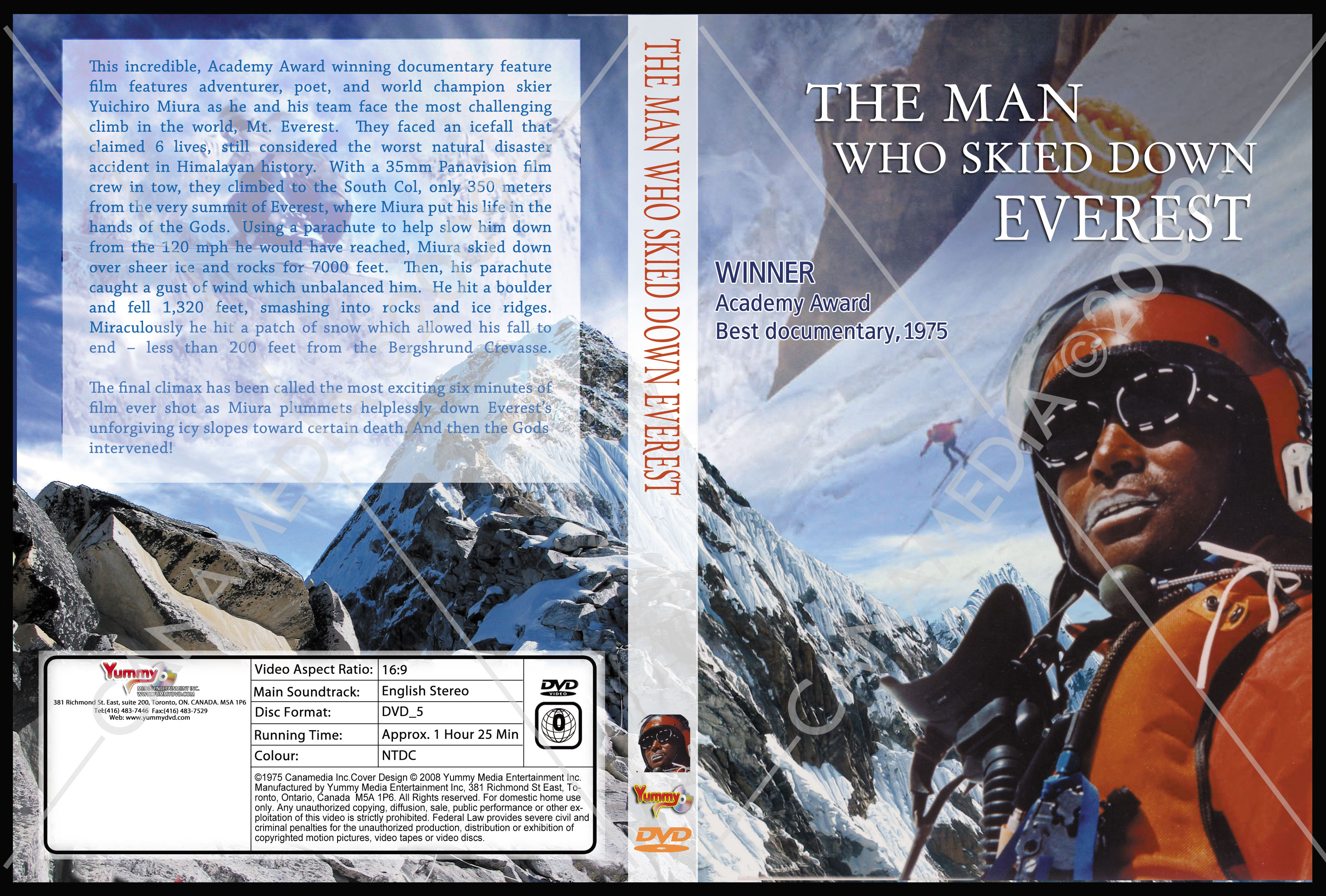 The Man Who Skied Down Everest_DVDcover