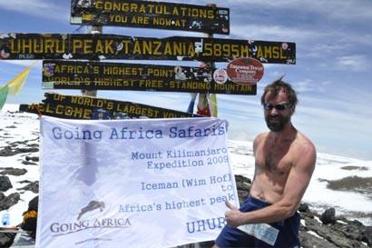 Image result for wim hof kilimanjaro