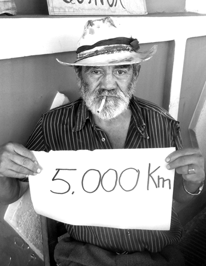 5000km NEWSFLASH Local man overwhelmed by the Doctors' distance so far.