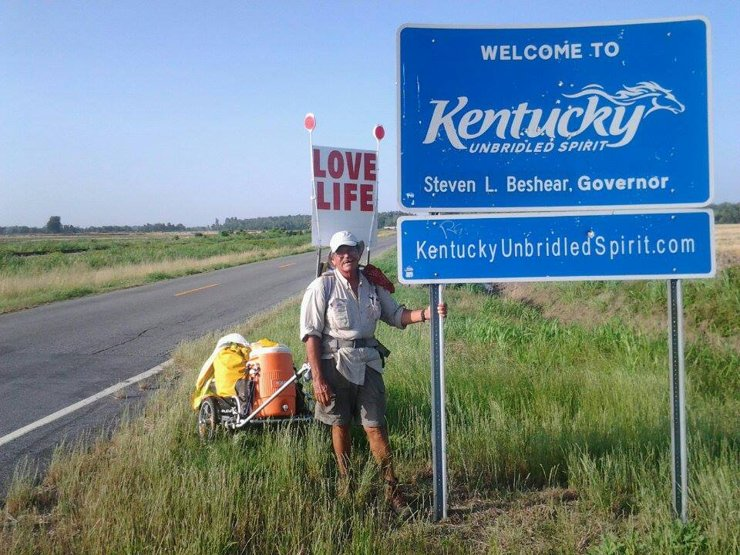 Steve Fugate's trail therapy sees him walking across the USA to love life