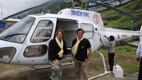 Charley Boorman's By Any Means trip from Ireland to Australia (helicopter)