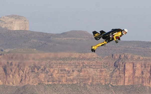 Jetman above the Grand Canyon
