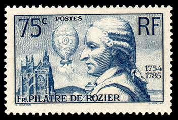 Pilatre Rozier stamp