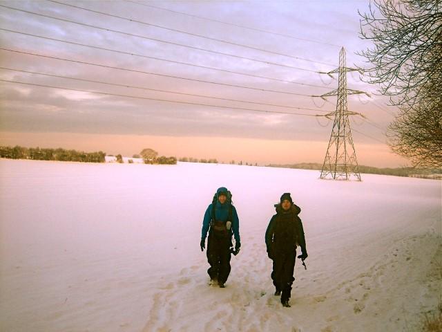 Rob and Al walking M25 (Small)