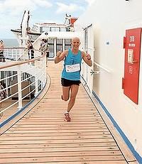 Ultra marathon at ship at sea