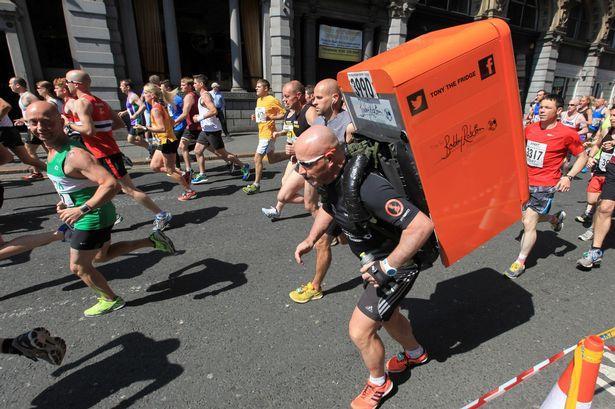 marathon running tony the fridge