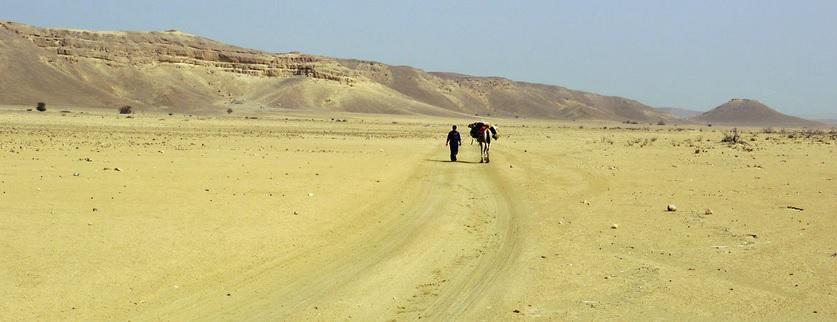 mikael in middle of desert of Yemen