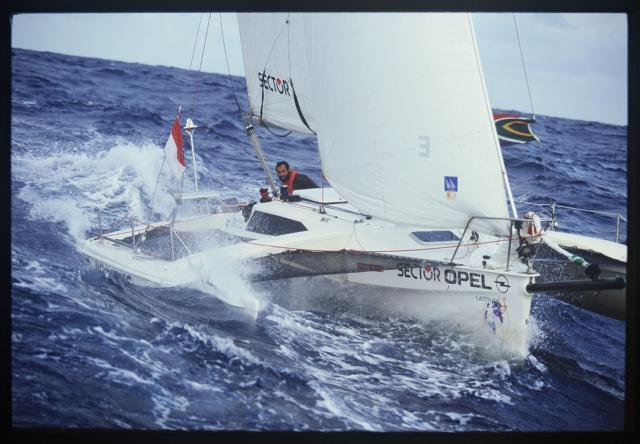 mike horn on trimaran