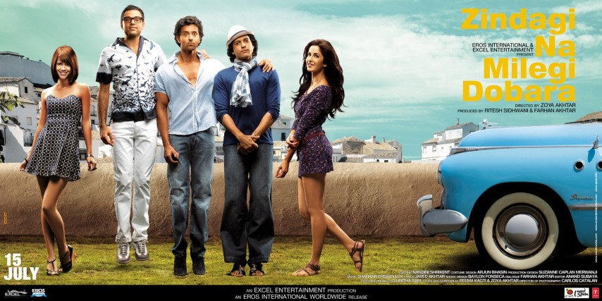 the best Bollywood Travel and Roadtrip movies - Zindagi Na Milegi Dobara