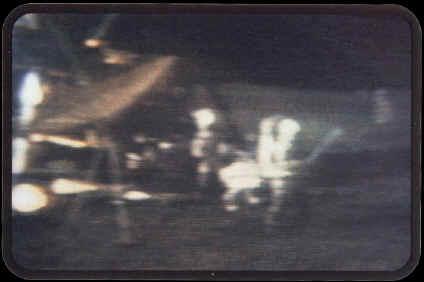 screenshot from the original NASA Lunar Golf footage