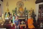 Zilla in a Buddhist temple