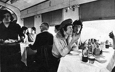 Bowie in the dining train