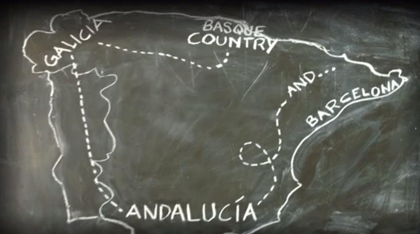 route map perennial plate Spain roadtrip