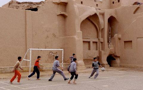 A pickup game in Yazd, Iran