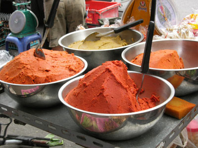Hot curry pastes in northern Thailand
