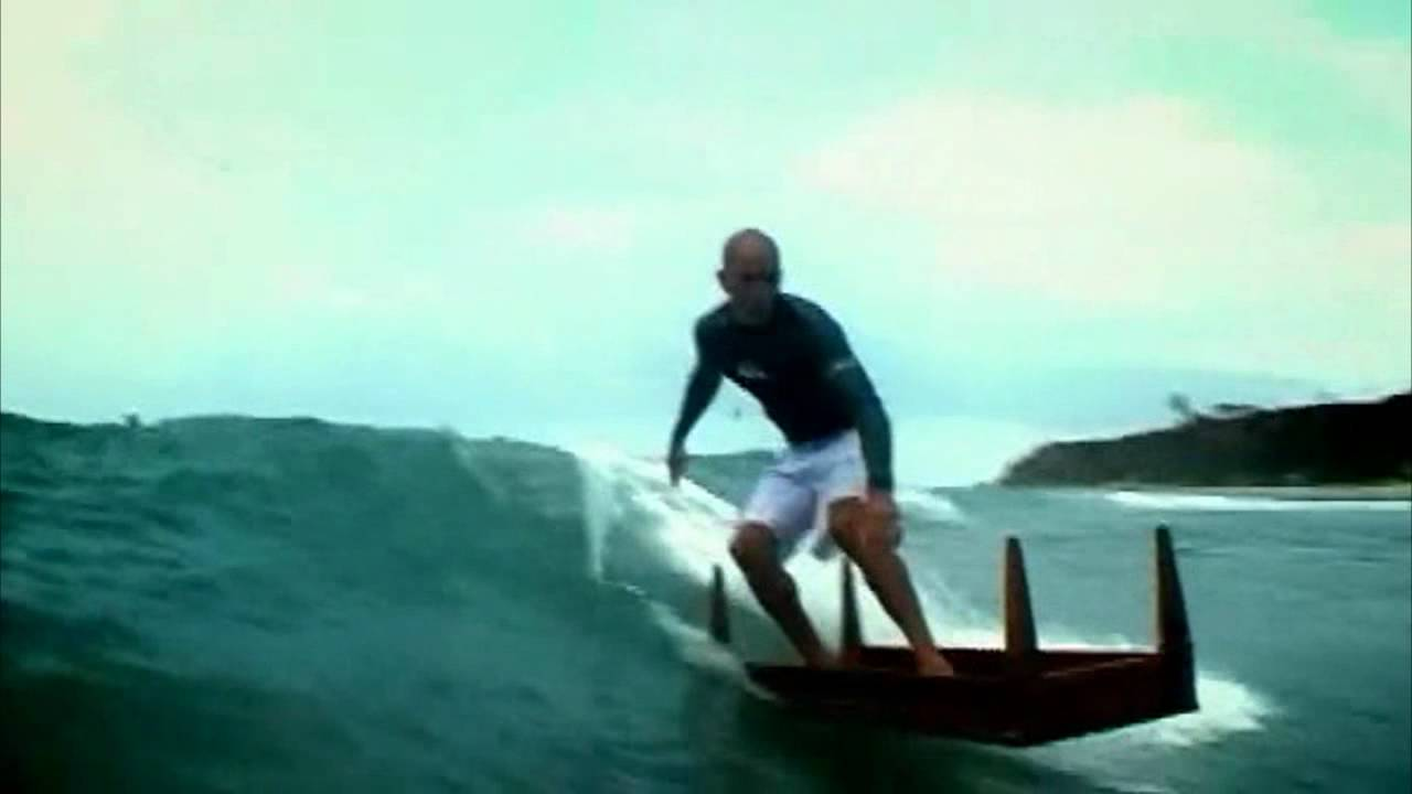 Kelly Slater surfs a Table