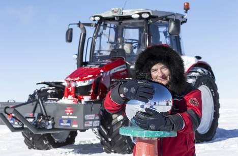 Tractor girl Antarctica5