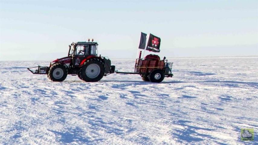 tractor girl Antarctica (Small)