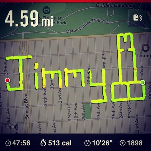 Guys! Help! I need @jimmyfallon to run a Jimmy Phallus with me!