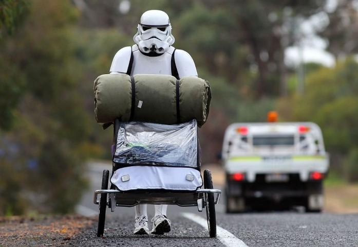 Troopertrek: a hike across Australia dressed up as Star Wars Stormtrooper