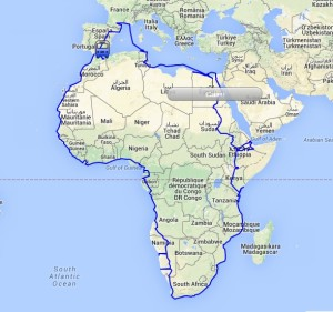Encircle Africa route map