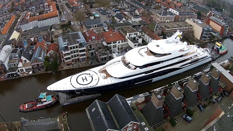 Mega yacht Symphony is bigger than a block of flats