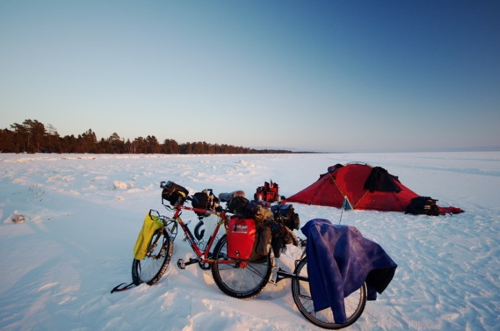 camping on the ice of lake Baikal (Small)