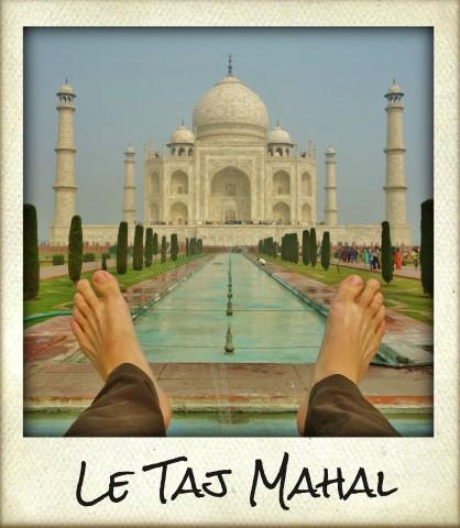 Taj Mahal feet selfies series