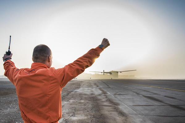 Solar impulse 2, the take off in Abu Dhabi of the record breaking solar plane
