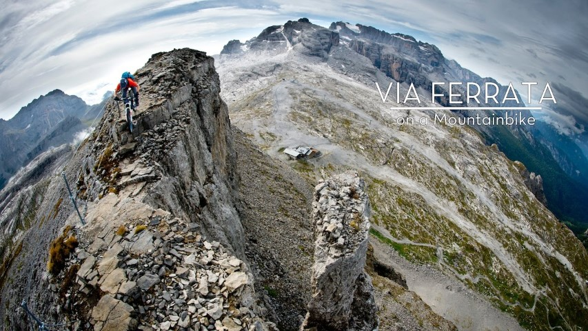 via ferrata on a mountainbike (Small)