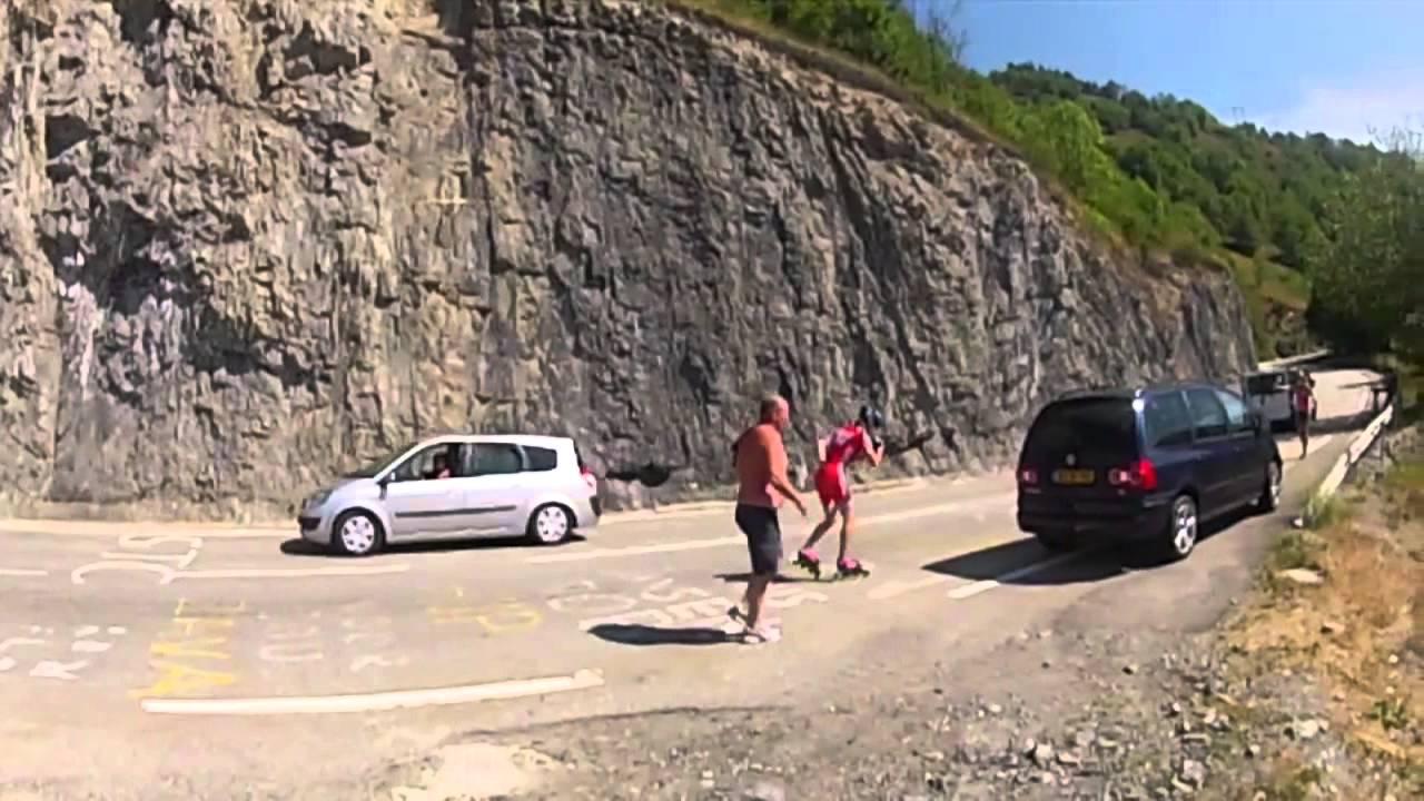 uphill skating alpe d'huez