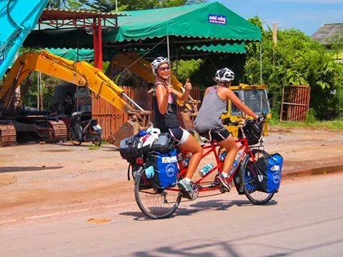 4 girls, 2 tandem bicycles >> cycling from Indonesia to Holland