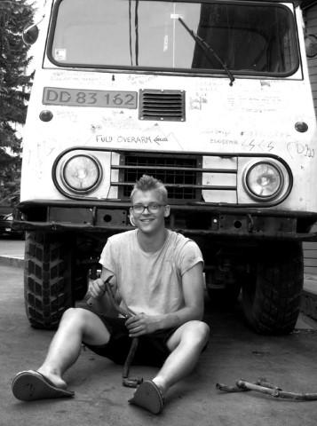 Mathias and his Volvo Valp