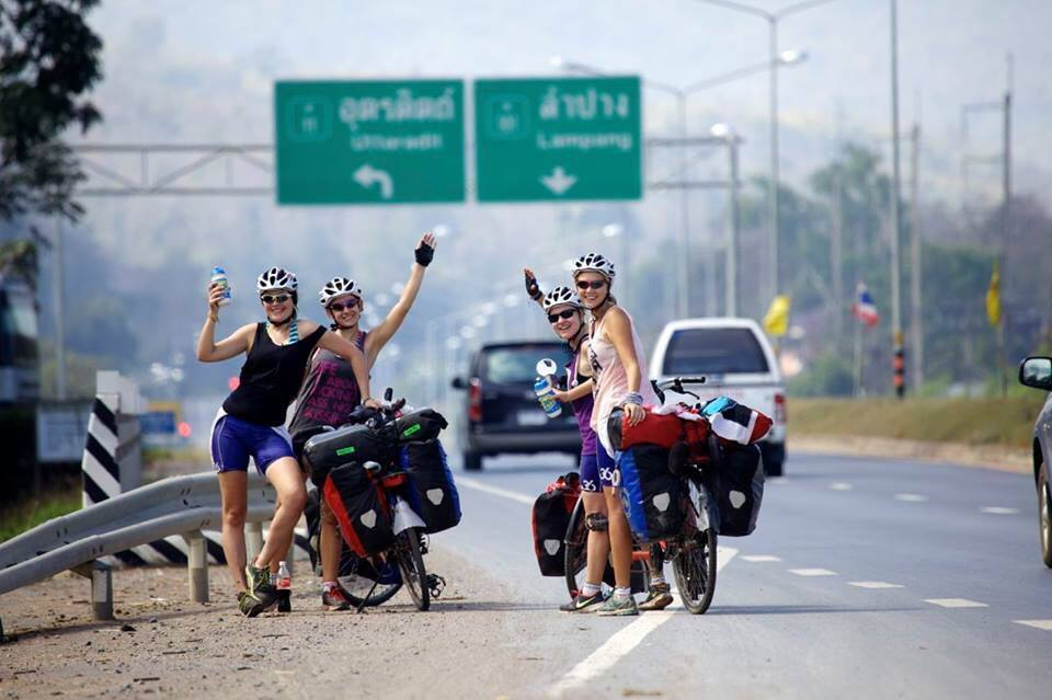Ride for Women's Rights (R4WR) >> 4 girls on 2 tandem bicycles from Indonesia to Holland