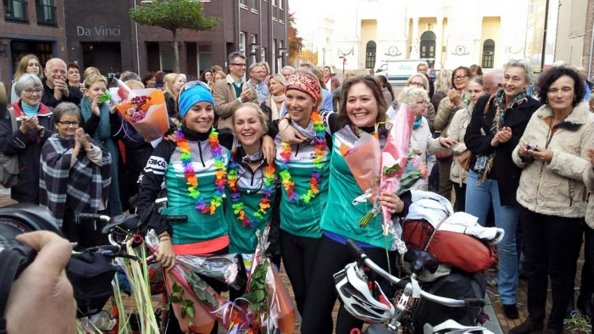 Ride for Women's Rights (R4WR) arrival back home in Oudenbosch (Small)