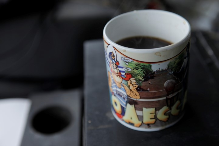 The only Odessa souvenir left, a tacky coffee cup