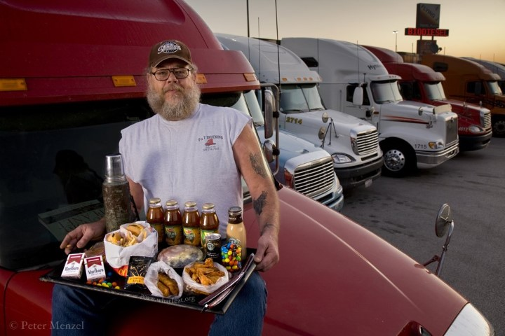 long-distance truck driver and ex-biker from Mississippi, USA (5,400 kcal) (Small)