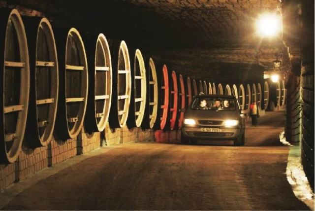 Moldova wine cellar tunnels Cricova car tour