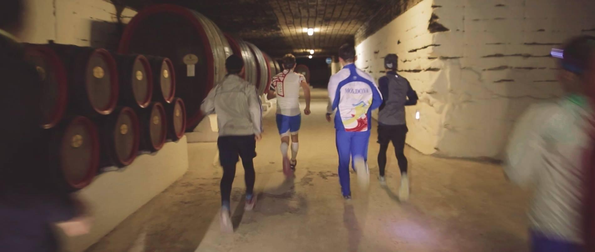 Running the Moldova wine cellar tunnels - Cricova Run 4