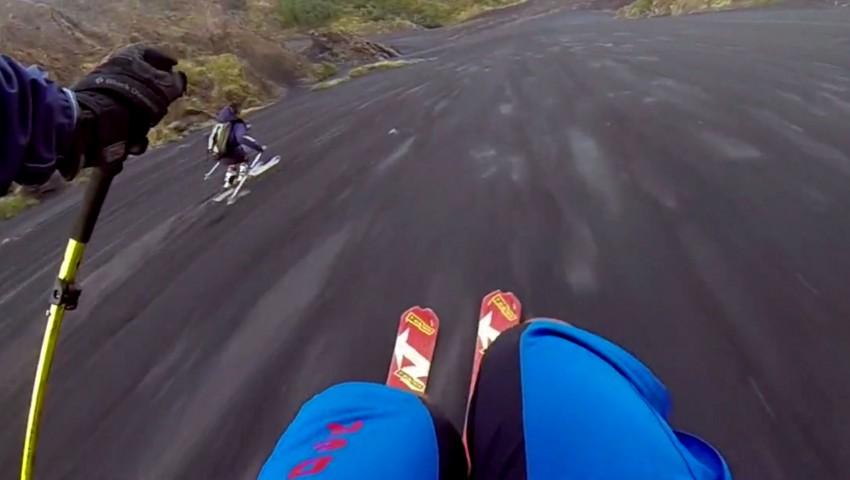 Skiing Volcano Ash - Etna 1
