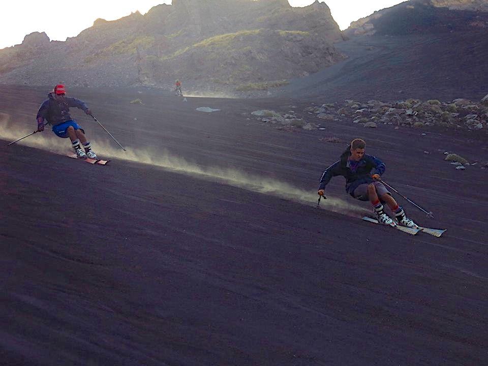 Skiing Volcano Ash - Etna