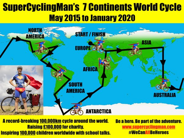 SuperCyclingMan route map