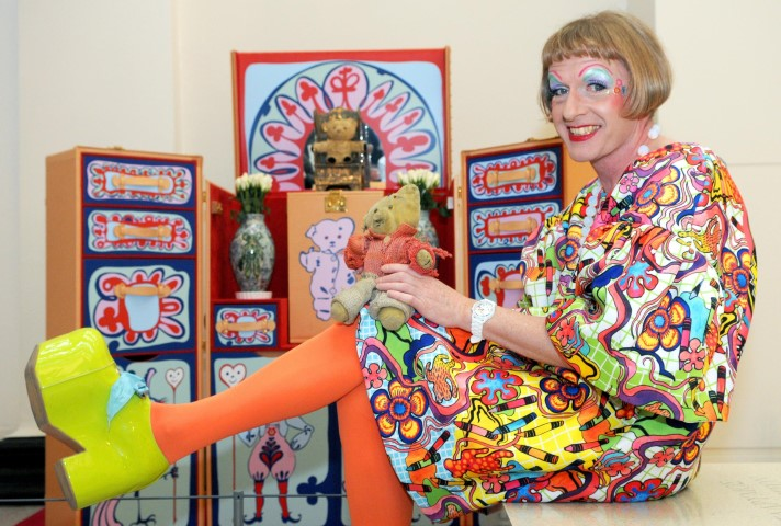 Grayson Perry with his teddy bear Alan Measles