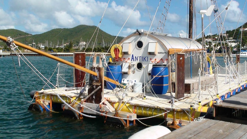 The AnTiki - A Transatlantic Sailing Trip in a Garden Shed on a Raft (6) (Small)