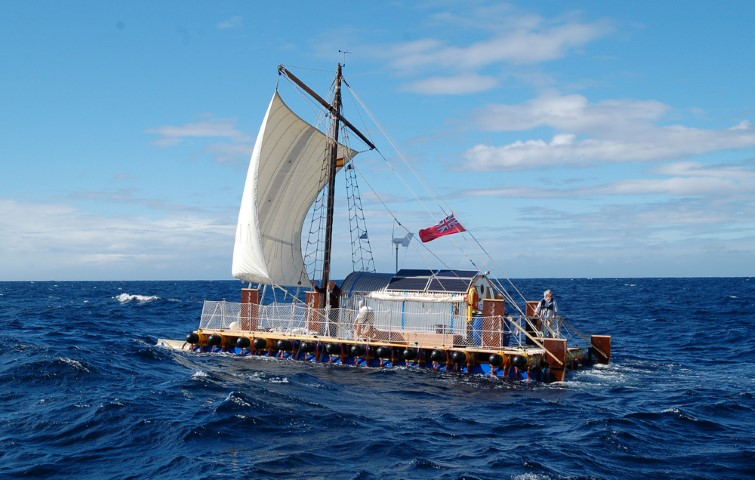The AnTiki - A Transatlantic Sailing Trip in a Garden Shed on a Raft (Small)